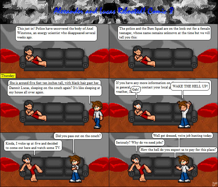 Comic 8: Sleeping through Murder